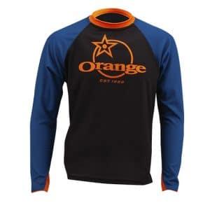 Maillot Orange Bikes Trail Bleu / Noir Manches Longues  XS