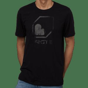 T-Shirt Burgtec Noir Sur Noir  S
