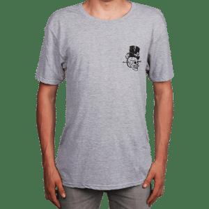 T-Shirt Burgtec Grey Skull  S