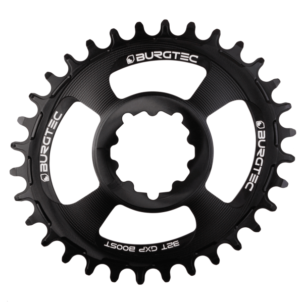 Couronne Burgtec GPX Boost Oval 3mm Offset Thick Thin Noir 28d