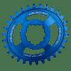 Couronne Burgtec GPX Boost Oval 3mm Offset Thick Thin Bleu 28d