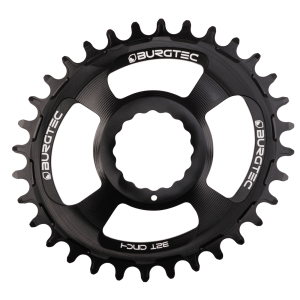 Couronne Burgtec CINCH (RaceFace) Boost Oval 3mm Offset Thick Thin Noir 28d