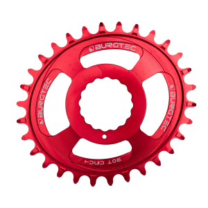 Couronne Burgtec CINCH (RaceFace) Boost Oval 3mm Offset Thick Thin Rouge 28d