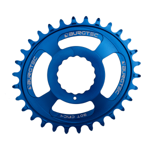 Couronne Burgtec CINCH (RaceFace) Boost Oval 3mm Offset Thick Thin Bleu 28d