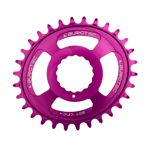 Couronne Burgtec CINCH (RaceFace) Boost Oval 3mm Offset Thick Thin Mauve 28d