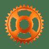Couronne Burgtec Shimano Direct Mount Thick Thin Orange 28d