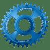 Couronne Burgtec Shimano Oval Direct Mount Thick Thin Bleu 30d