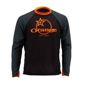 Maillot Orange Bikes Trail Gris Foncé / Noir Manches Longues  XS