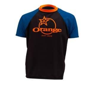 Maillot Orange Bikes Trail Bleu / Noir Manches Courtes  XS