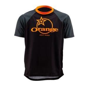 Maillot Orange Bikes Trail Gris Foncé / Noir Manches Courtes  XS