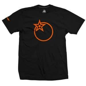 T-Shirt Orange Bikes Noir Froot  S/M