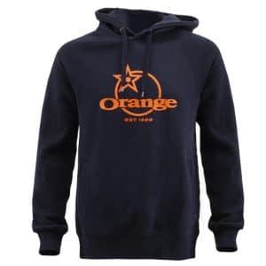 Pull Over à Capuche Orange Bikes Classic Bleu Marine / Noir  XS