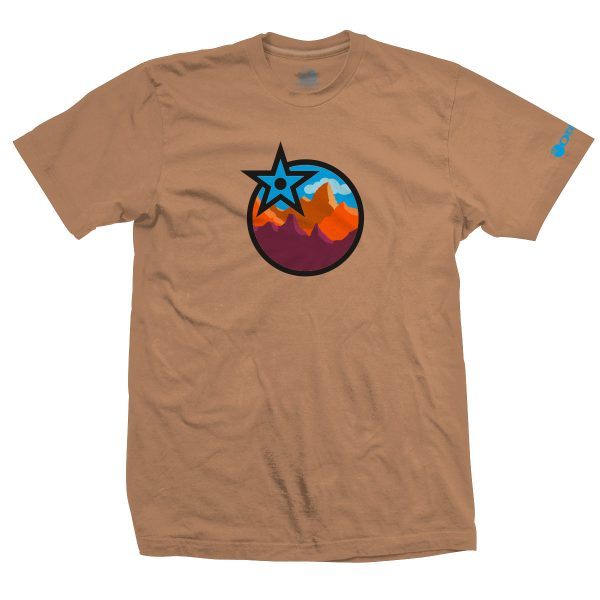 T-Shirt Orange Bikes Mountain O'Range 2 Sable  S/M