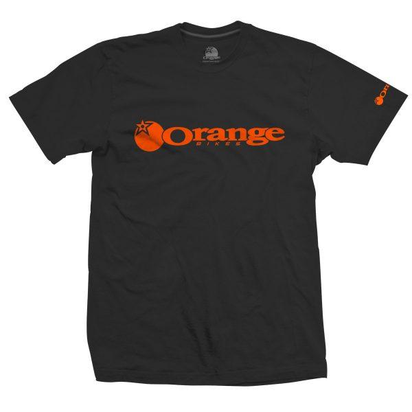 T-Shirt Orange Bikes Noir Orange Corporate  S/M