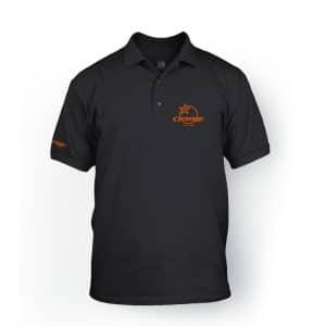 T-Shirt Orange Bikes Polo Classic Noir  S/M