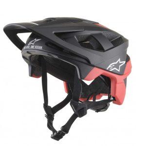 casque-alpinestars-vector-pro-atom-noir-rouge-mat