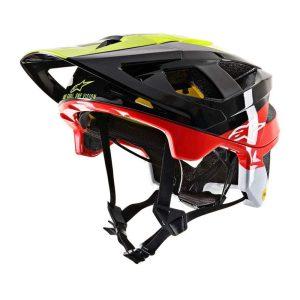 casque-alpinestars-vector-tech-pilot-noir-jaune-rouge