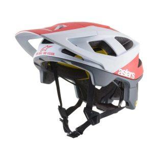 casque-alpinestars-vector-tech-polar-blanc-rouge-mat