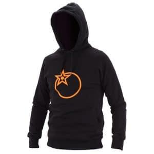 Pull Over à Capuche Orange Bikes Logo Noir  XS
