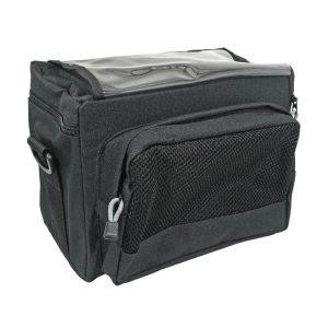 sacoche-de-cintre-guidon-velo-newton-n3-noir-blanc-fixation-velcro-avec-lecteur-carte-lg26-l19-h20