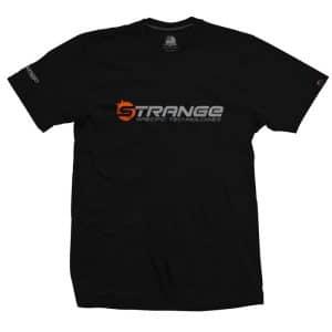 T-shirt Orange Strange Logo Noir  S/M
